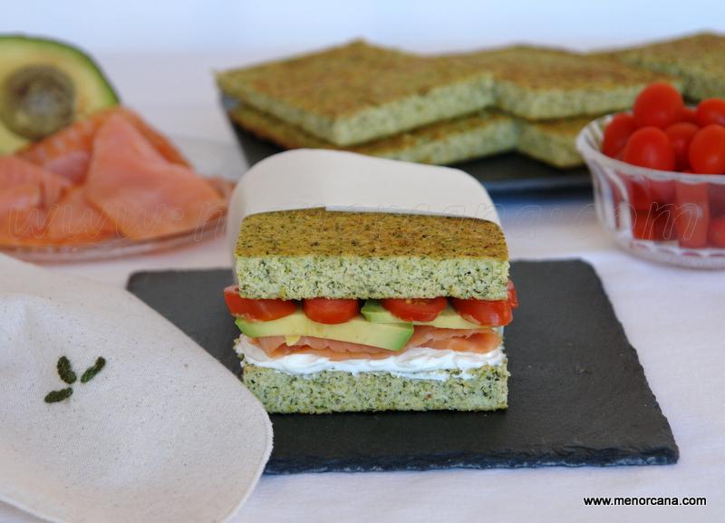 Pan de brócoli y almendra (sin gluten)