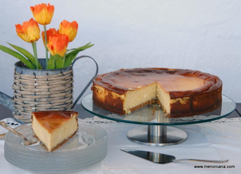 Pastel de queso con maíz (pay de queso y elote)